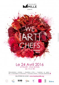 Affiche We ART Chefs ROUGE