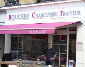 la nouvelle façade de la boucherie Brezillon