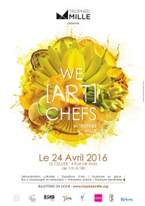 Affiche We ART Chefs JAUNE