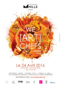Affiche We ART Chefs ORANGE