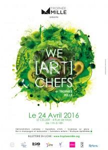 Affiche We ART Chefs VERT