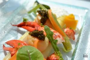 saint Jacques, homard et caviar